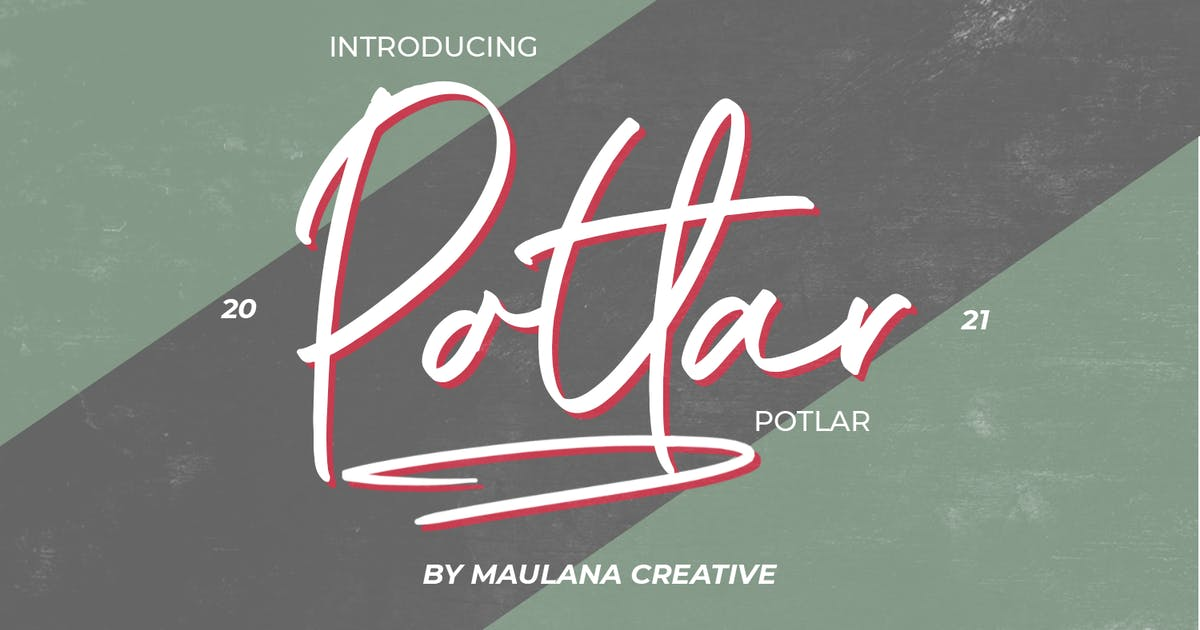 Download Potlar Signature Script Font by maulanacreative