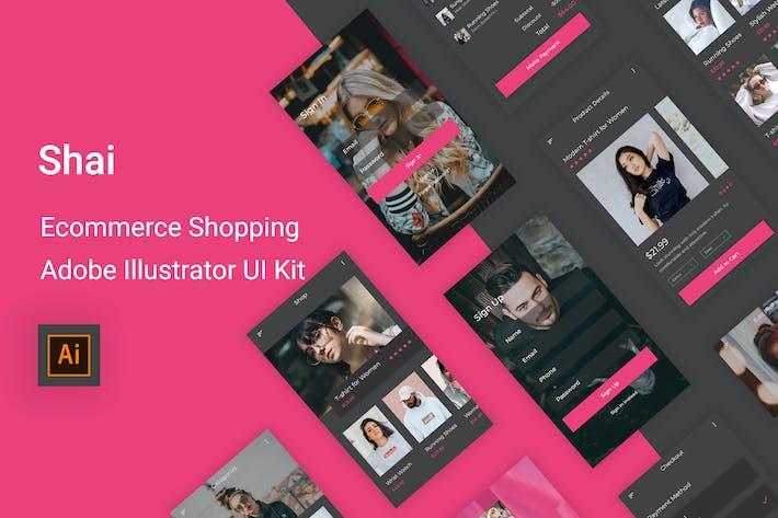 Thumbnail for Shai - Электронная коммерция Шоппинг UI Kit для Illustrator