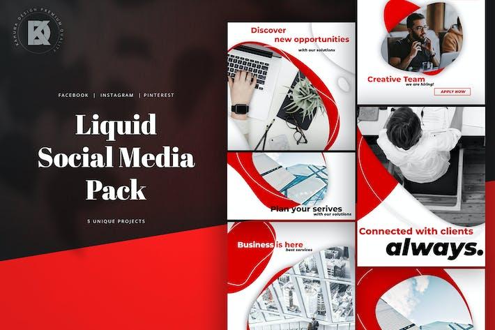 Kit de médias sociaux liquides