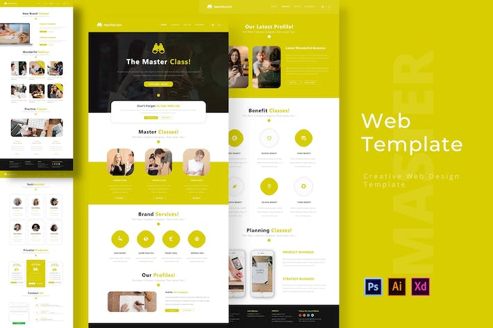 Thumbnail for Masterclass Web Template