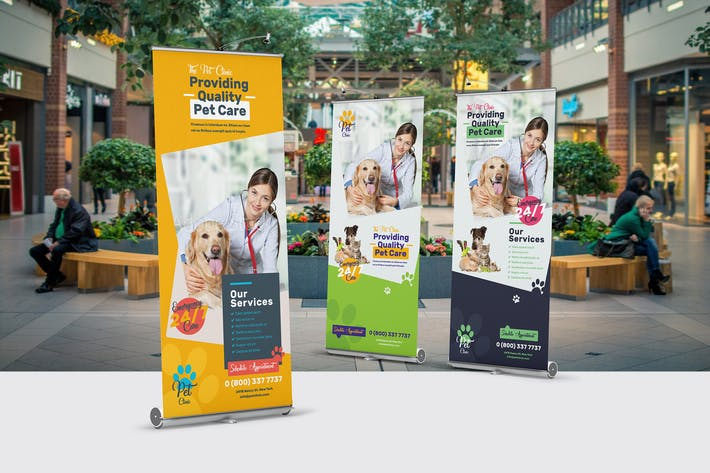 Thumbnail for Pet Clinic Roll-Up Banner