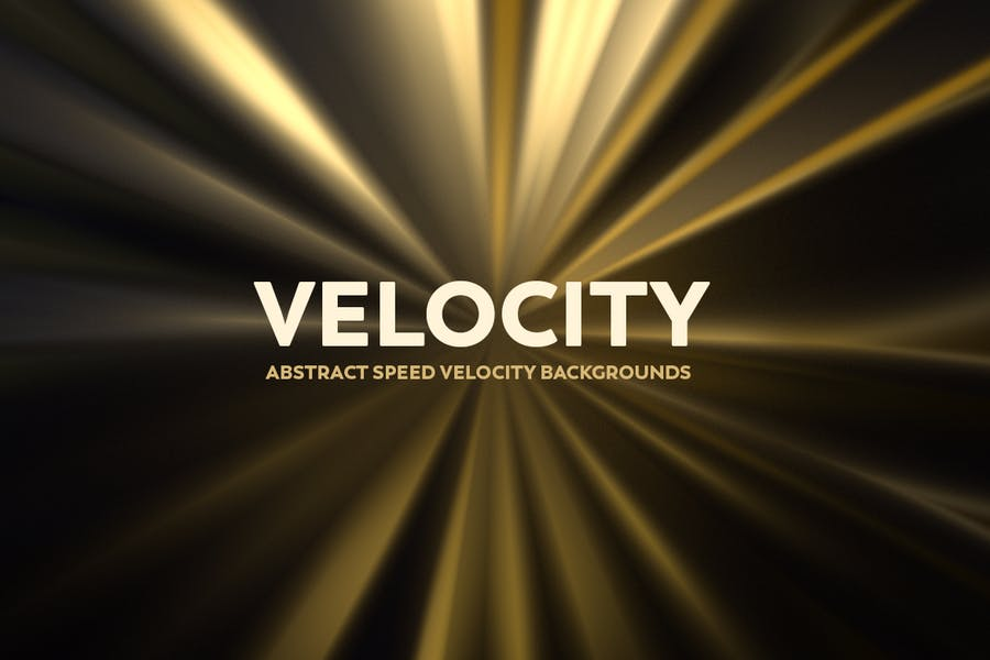 Abstract Speed Velocity Backgrounds - Golden Color