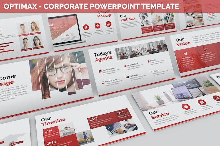 Thumbnail for Optimax - Corporate Powerpoint Template