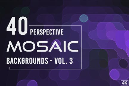 40 Perspective Mosaic Backgrounds - Vol. 3