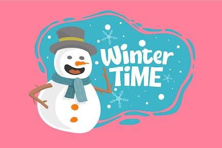Winter Time - Vector Illustration