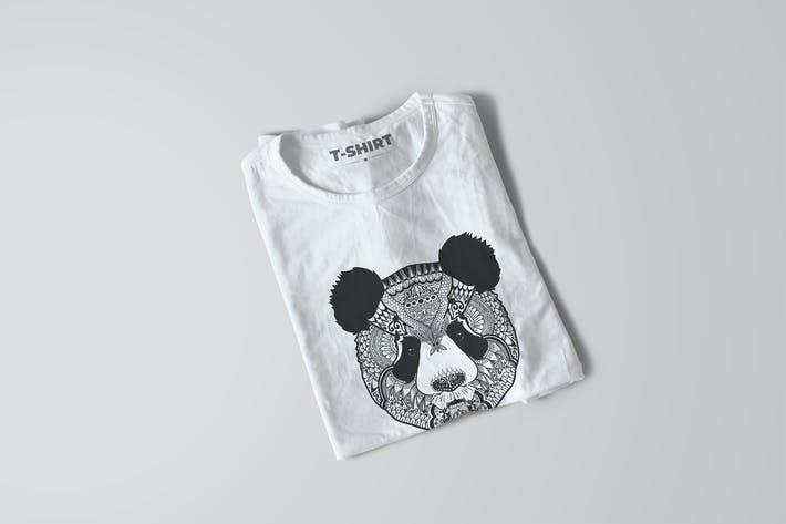 Thumbnail for Panda Mandala T-shirt Design Vector Illustration