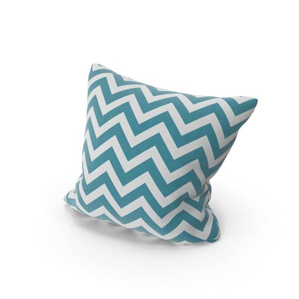 Blue Stripe Throw Pillow