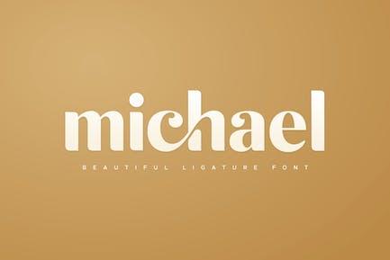 michael - hermosa fuente de ligadura