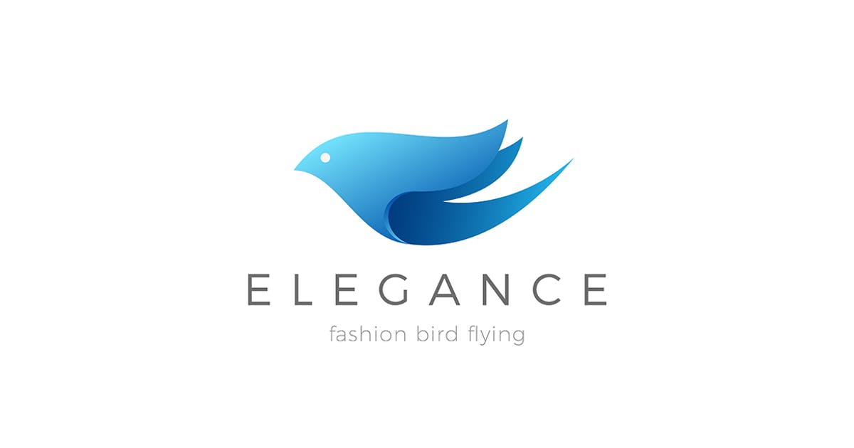 Download Flying Elegant Bird Logo design by Sentavio