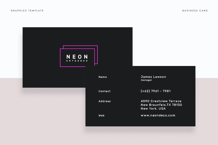 Thumbnail for Neon Business Card