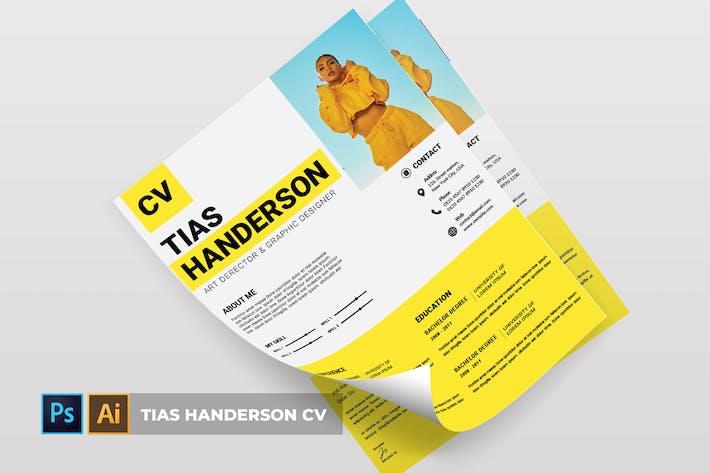 Cover Image For Tias Handerson | CV & Resume