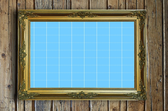 Thumbnail for Antique Golden Frame Mockup 03