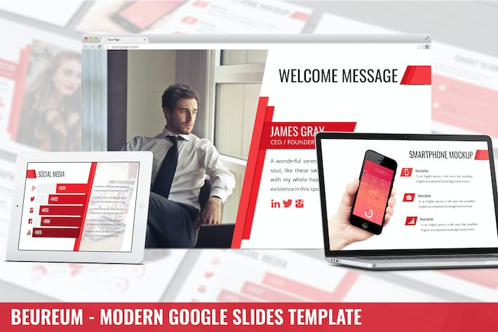 Thumbnail for Beaureum - Modern Google Slides Template