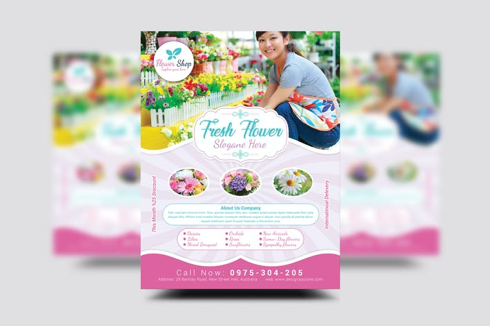 Thumbnail for Flower Shop Flyer Template