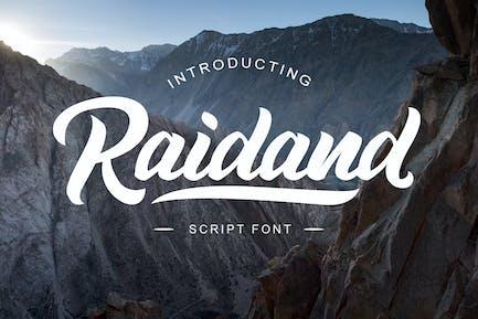Raidand - Fuente de escritura de pincel