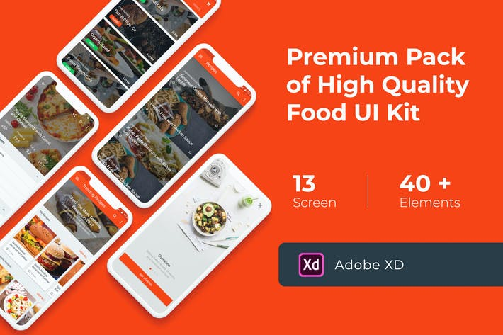 Thumbnail for Food Cooking Recipes UI KIT for
