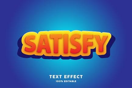 Satisfy cartoon kids text effect