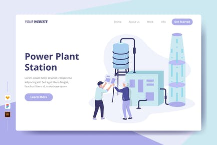 Power Plant Station - Landing Page