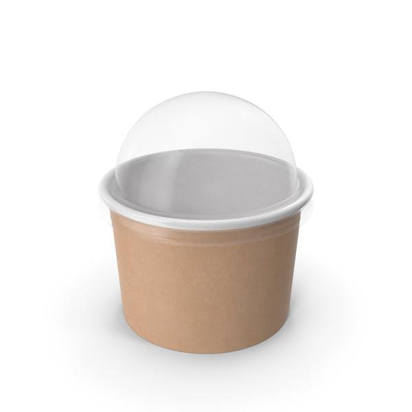 Крафт-бумага Food Cup с прозрачной крышкой для десерта 8 унций 200 мл