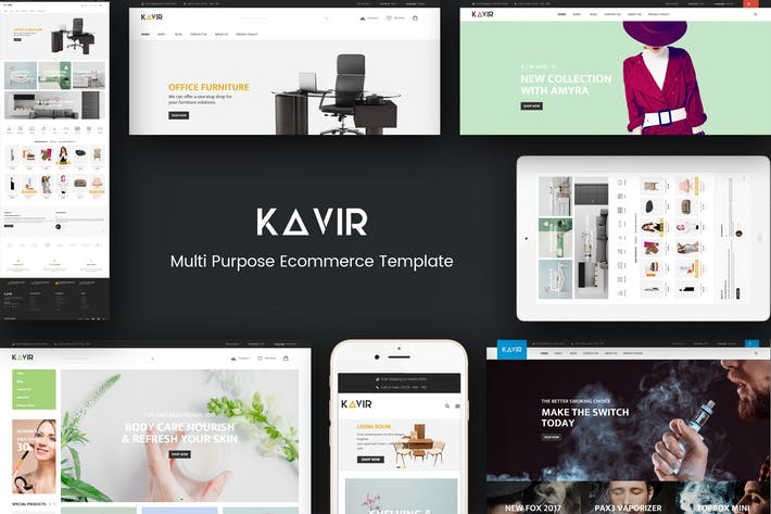 Thumbnail for Kavir - Responsive Magento Theme