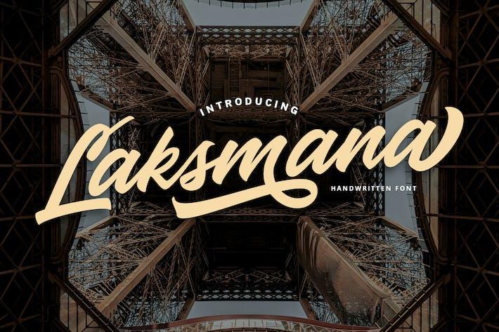 Thumbnail for Laksmana - Handwritten Font
