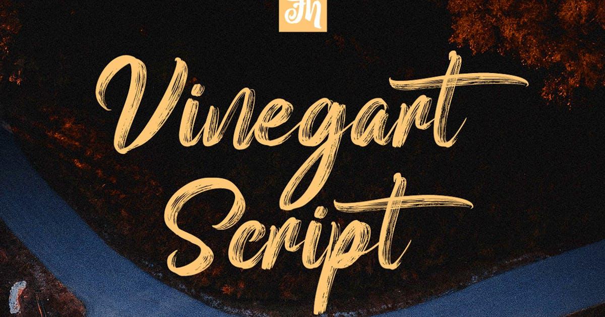 Download Vinegart - Handwritten Font by Voltury