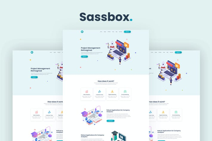 Thumbnail for Sassbox - Startup and SaaS Template