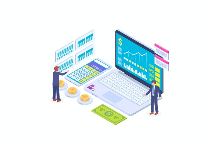 Thumbnail for Tracking Financial Cost Isometric Vector Concept 3