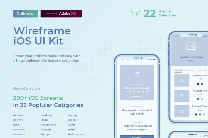 Thumbnail for Kit de interfaz de usuario de wireframe iOS de Collector