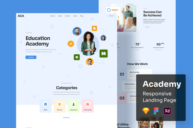 Academy Responsive Landing Page