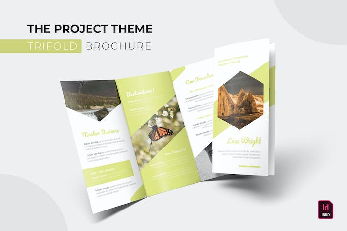 Thumbnail for Project Theme | Trifold Brochure