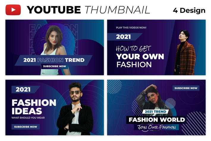 Fashion World Youtube Thumbnail Template