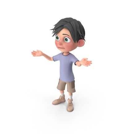 Cartoon Junge Jack verloren
