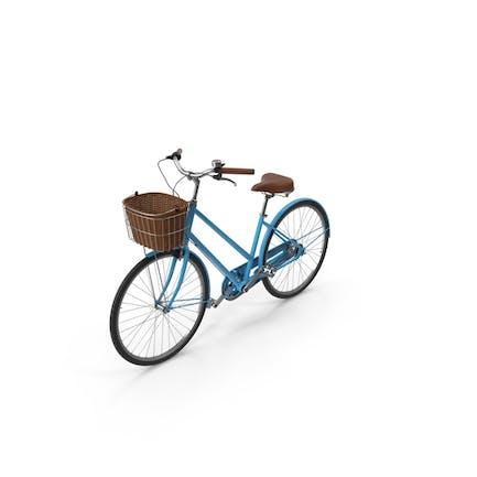Bicicleta Azul Con Cesta