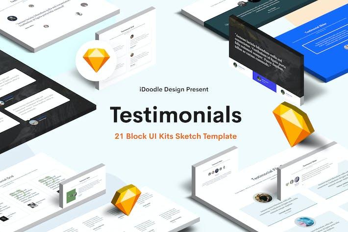 Thumbnail for Creative Testimonial Block UI Kits Design