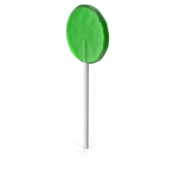 Flat Lollipop Green