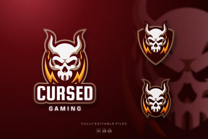 Thumbnail for Demon Skull Sports and E-sports Logo