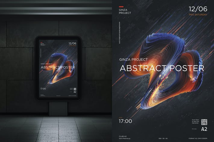 Thumbnail for Poster Digital Abstract