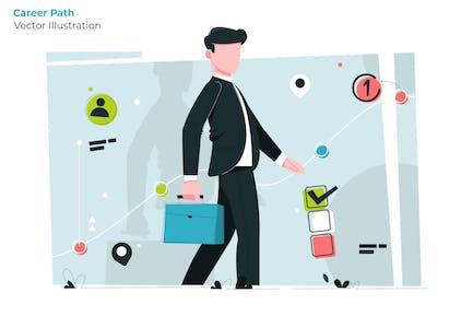 Trayectoria profesional - Ilustración Vector
