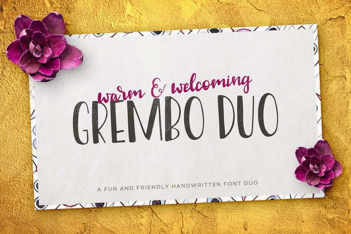 Thumbnail for Grembo Font Duo