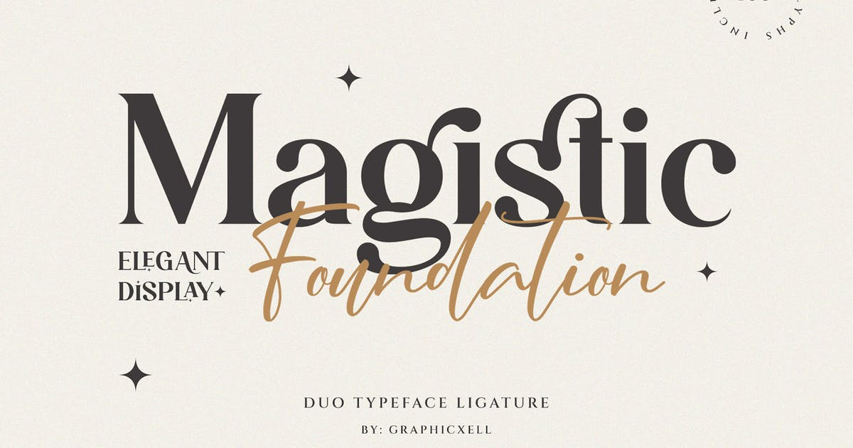 Download Magistic - Duo Ligature Typeface by Graphicxell