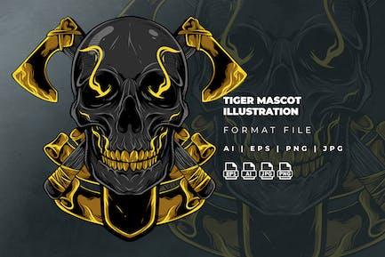 Skull Logo Illustration