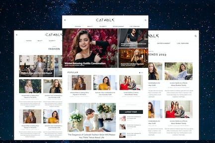 Catwalk - Fashion Blogger Website PSD Template