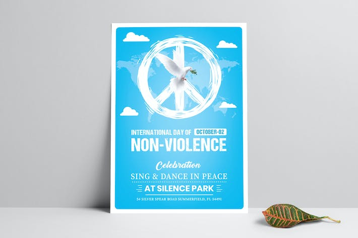 Thumbnail for International Day of Non-Violence Flyer Template