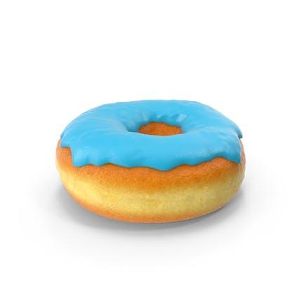 Blauer Donut