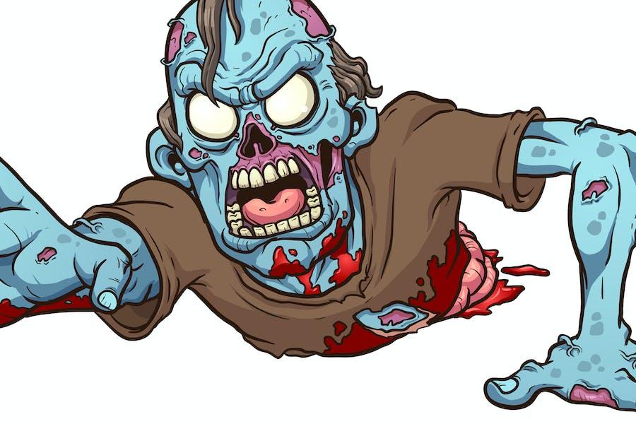 Krabbelnder Zombie