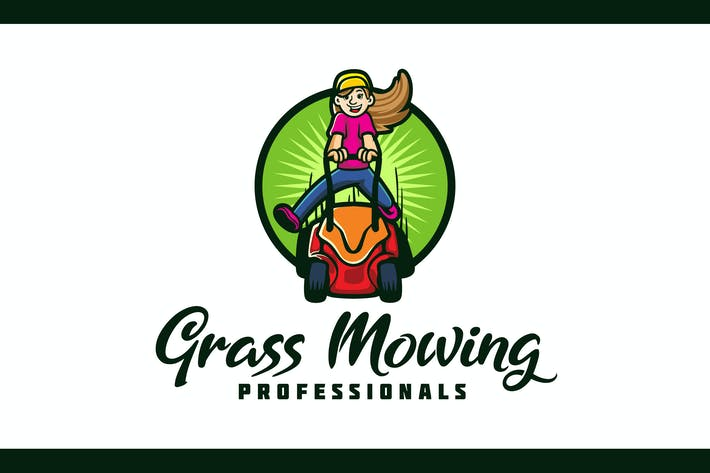 Thumbnail for Lawn Mowing and Landscaping Mascot Logo
