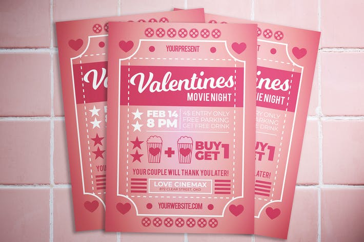 Thumbnail for Valentine Movie Night Flyer