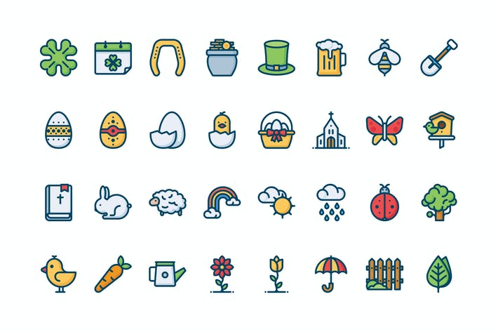 Cover Image For 32 Spring icons