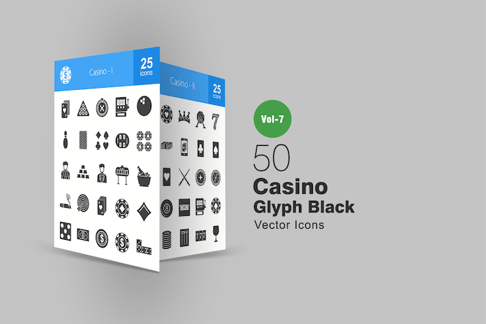 Thumbnail for 50 Casino Glyphe Icons